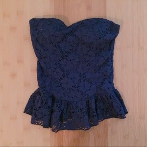 Tops - Navy blue lace camisole (S)